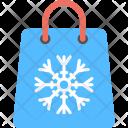 Winter Shopping Bag Icon