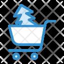 Christmas Shopping Shopping Cart Icon