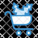 Christmas Shopping Christmas Basket Icon