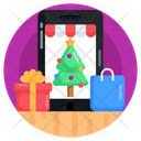 Mcommerce Online Shopping Christmas Shopping App Icon