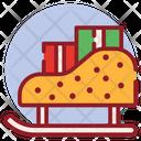 Christmas Sled Snow Sleigh Sledge Icon