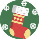 Christmas Socks Snowflake Icon
