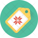 Christmas Tag Snowflake Icon