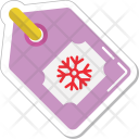 Tag Snowflake Label Icon