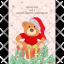 Teddy Christmas Festive Icon