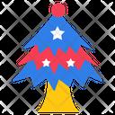 Christmas Tree Fancy Tree Star Tree Icon