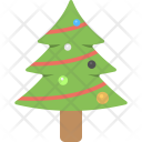 Christmas Tree Happy Icon