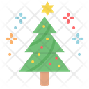 Tree Celebrate Star Icon