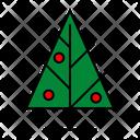 Color Christmas Tree Icon