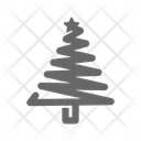 Tree Christmas Greeting Icon