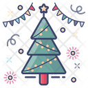 Christmas Tree Xmas Tree Decorated Tree Icon