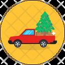 Christmas Tree Christmas Transport Christmas Truck Icon