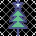 Christmas Tree Decorated Decoration Icon