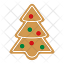 Christmas tree gingerbread Icon