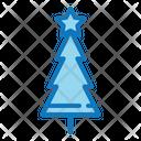 Christmas Tree With Star Christmas Tree Icon