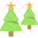 Trees Xmas Decorative Icon