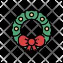 Wreath Ribbon Bow Icon