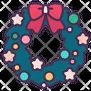 Wreath Christmas Holiday Icon