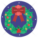Circle Christmas Santa Icon