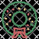 Christmas Xmas Wreath Icon