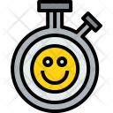 Chronometer Happy Clock Icon