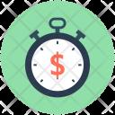 Chronometer Timekeeper Dollar Icon