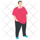 Overweight Chubby Man Icon