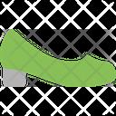 Chunky Heels Heel High Heels Icon