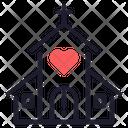 Church Wedding Love Icon