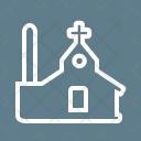 Church Building Pray Icon
