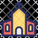 Building Christmas Church Icon