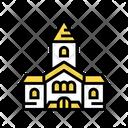 Church Building Color Icon