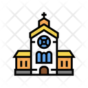 Church Building Color Icon