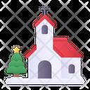 Church Christmas Architecture Icon