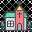 Church Building Religion Icon