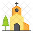 Church Cathedral Building Christian House Icon