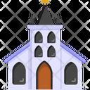 Church Architecture Sanctuary Building Christian Building Icon