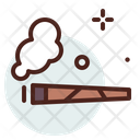 Cigar Smoke Addiction Icon