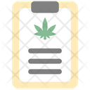 Clipboard Cannabis Cannabidiol Icon
