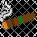 Cigar Smoking Medical Icon