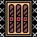 Cigar Smoking Box Icon