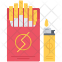 Cigarette Pack Lighter Icon