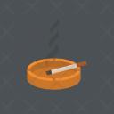 Cigarette With Ashtray Icon