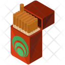Cigarettes Box Isometric Icon