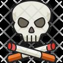 Cigarettes Skull Skull No Smoking Icon