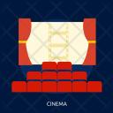 Cinema Building Interior Icon