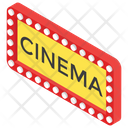Cinema Logo Movie Theater Sign Big Screen Icon