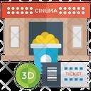 Cinema Movie Planing Watching Movie Icon
