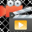 Cinema Action Clapper Clapperboard Icon
