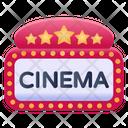 Cinema Signboard Cinema Board Cinema Banner Icon